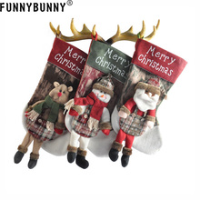 FUNNYBUNNY Christmas decorations gifts candy bags large snowman ornaments gift Santa Claus Snowman Elk