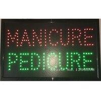 Manicure Pedicure Nails Beauty Salon SPA Hair LED Open Shop Business Sign neon 24X13 Inch