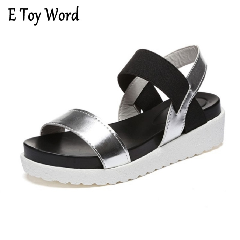 women female sandal summer of 2017 muffin platform waterproof Taiwan fish mouth slope with Rome women's flat sandals shoes цены онлайн