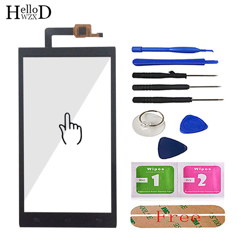 5.0'' Touch Glass For Micromax Canvas Juice 2 AQ5001 AQ 5001 Front Touch Screen Glass Digitizer Panel Lens Sensor Free Adhesive