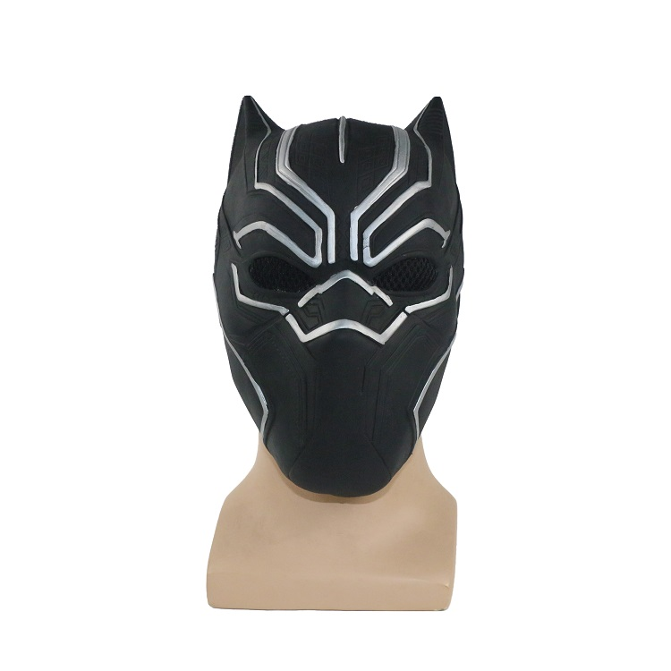 Black Panther Masks Movie Captain America Fantastic For Cosplay Men's Latex Party Mask Helmet for Halloween