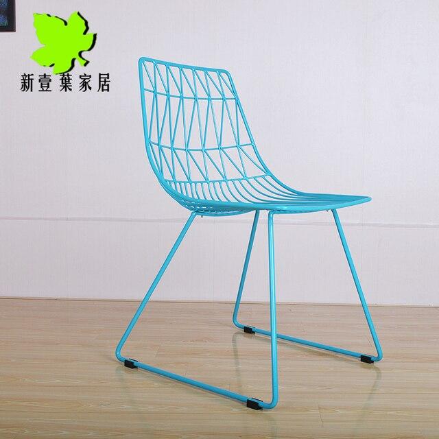 Especial IKEA alambre de malla metálica exterior silla de comedor ...