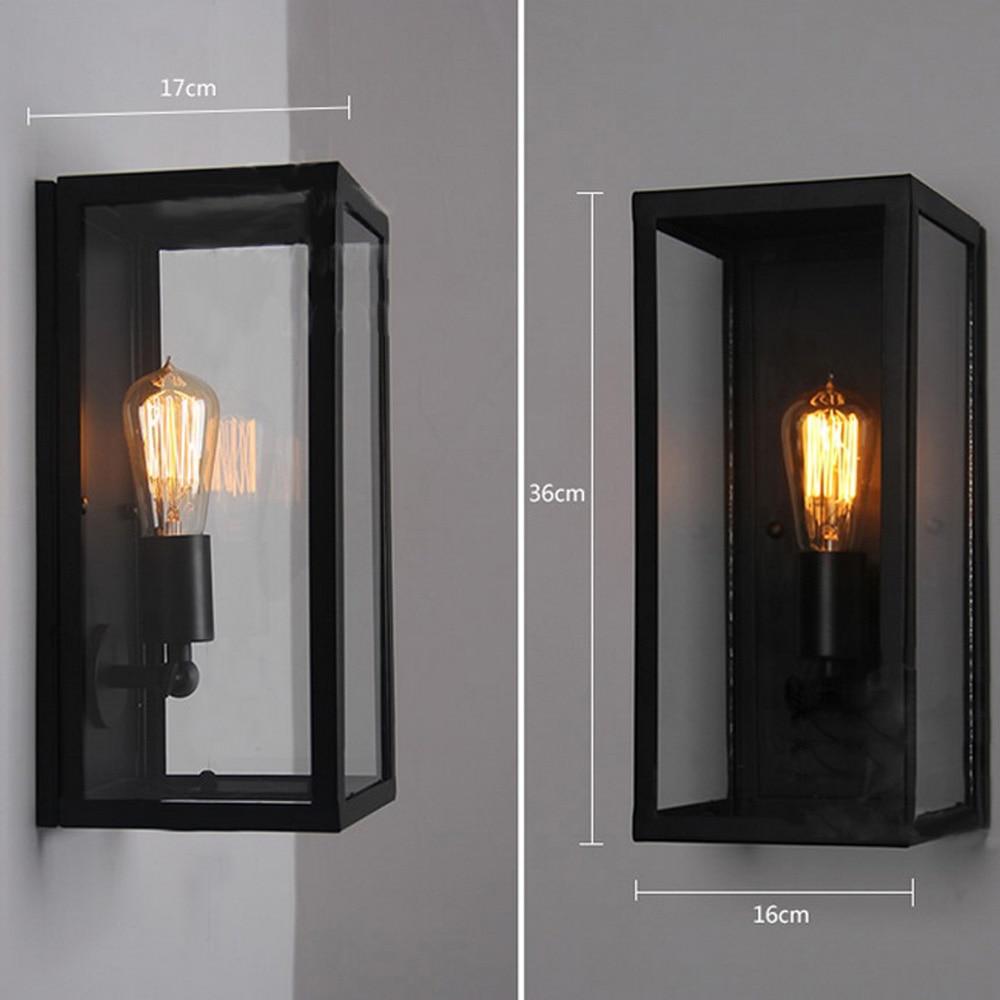 Черный Крытый Настенные светильники Кухня лобби Ванная комната антикварные настенные бра Винтаж Промышленное освещение Лофт кованого железа LED Бра - 2