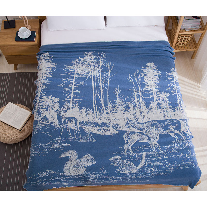 ФОТО Nordic style Knitted Thread Blanket 100% cotton Yarn dyed blankets suitable for home office travel hotel sofa blankets