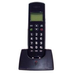 16 idiomas inalámbrico Digital teléfono fijo con identificación de llamada manos libres alarma Mute pantalla LED inalámbrico teléfono fijo para Home Hotel