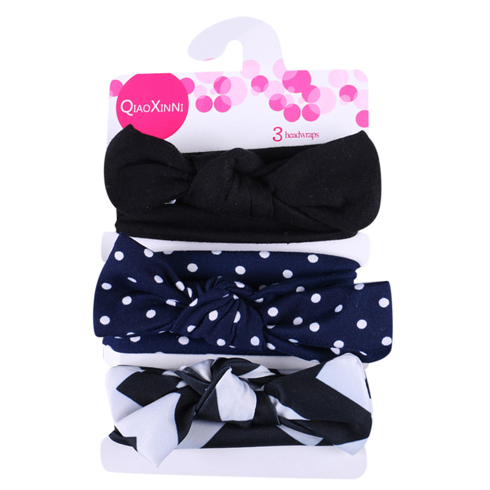 3 Pcs/Set Floral Bows Baby Heaband Cute Baby Girl Kid Big Bow Hairband Dress Up Headband Fashion HairBand For Baby