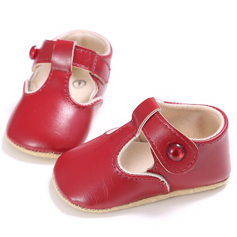 2eac66d9ec329 Buckle Strap Crib Shoes Summer Female Baby Princess Shoes Soft Bottom Solid Girls  Toddler Shoes Baby Shoes YD251 Tags