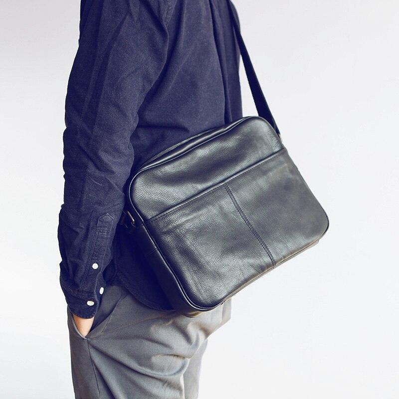 Bolso de mensajero de cuero para hombre LANSPACE bolso de cuerpo cruzado nuevo diseño bolsos de hombro bolso de ocio-in Bolsos bandolera from Maletas y bolsas    1