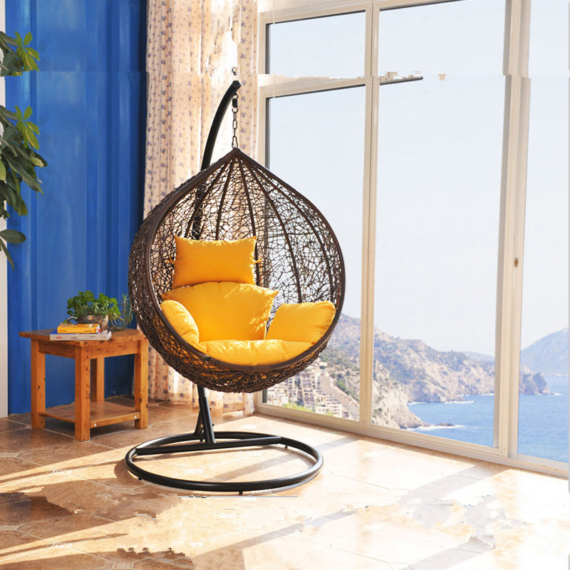 jy outdoor leisure furniture indoor balcony basket wicker chair swing