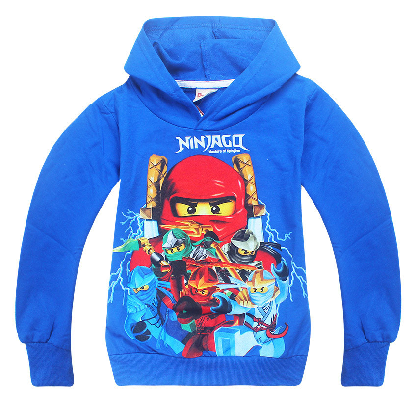 2017 Autumn Cartoon Boys Girls Ninjago Hoodies Children Long Sleeve T-Shirts Kids Clothing Sweatshirts Boy Sport Coats 3-10Y