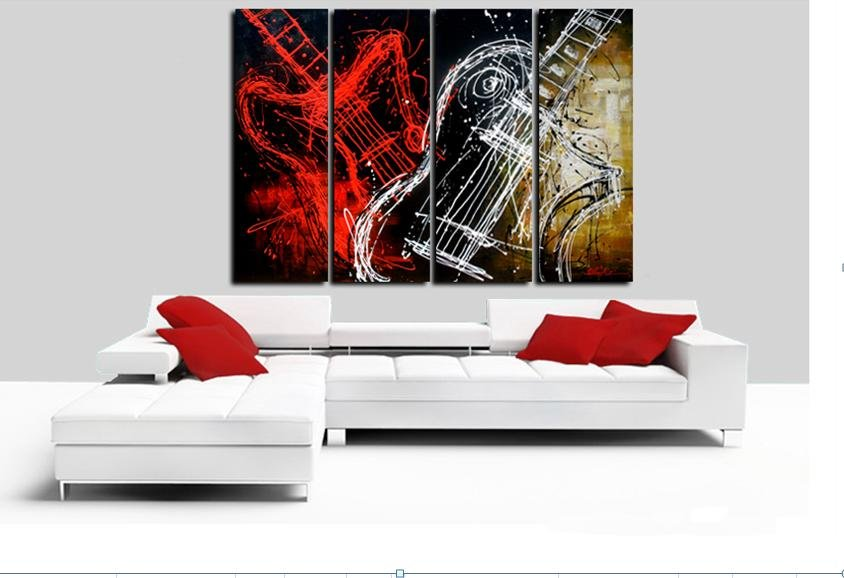 hand painted The Long leg beauty High Q. Wall Decor Modern ...