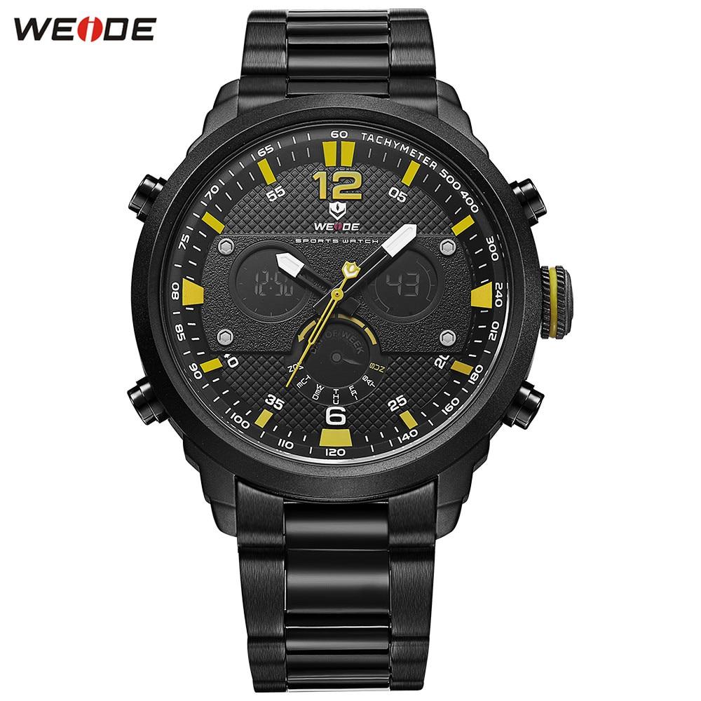 Fashion Original WEIDE Men LED Watch Functional Sport Watches Mens Digital Quartz Watch Men Waterproof Stopwatch Army Wristwatch все цены