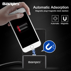 Image 3 - GARAS Magnetic Dock Station For iPhone/Micro USB/Type C Magnet connector Charger Dock Station For Iphone/Android USB Desktop