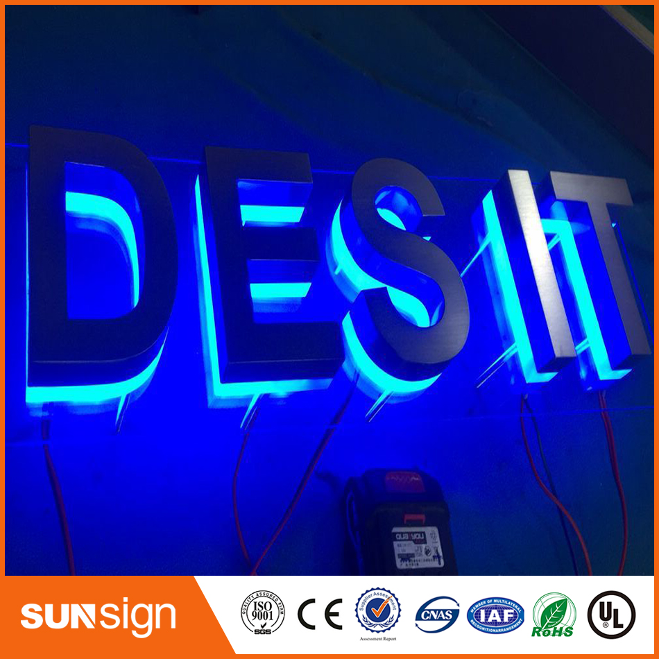 Outdoor Waterproof Custom Design Metal Backlit Led Channel Letter