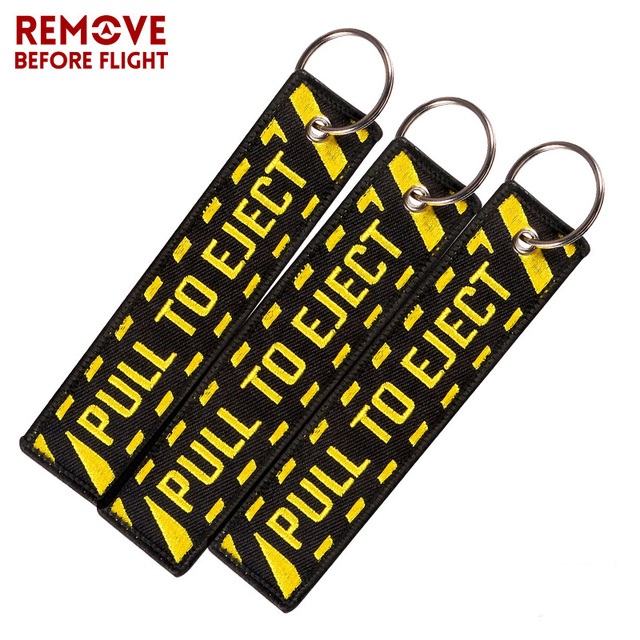 Key Fob Keychain >> Pull To Eject Aviation Gift Keychain Embroidered Key Chain Fashion