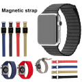 Free Leather Loop Strap Bracelet Stainless Steel Band Magnet for iWatch Apple Watch 42mm 38mm for  Fitbit blaze Watchband