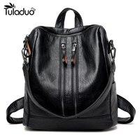 High Quality 2017 New Fashion Soft Genuine Leather Backpack Women Brand Ladies Backpacks For Teenage Girls