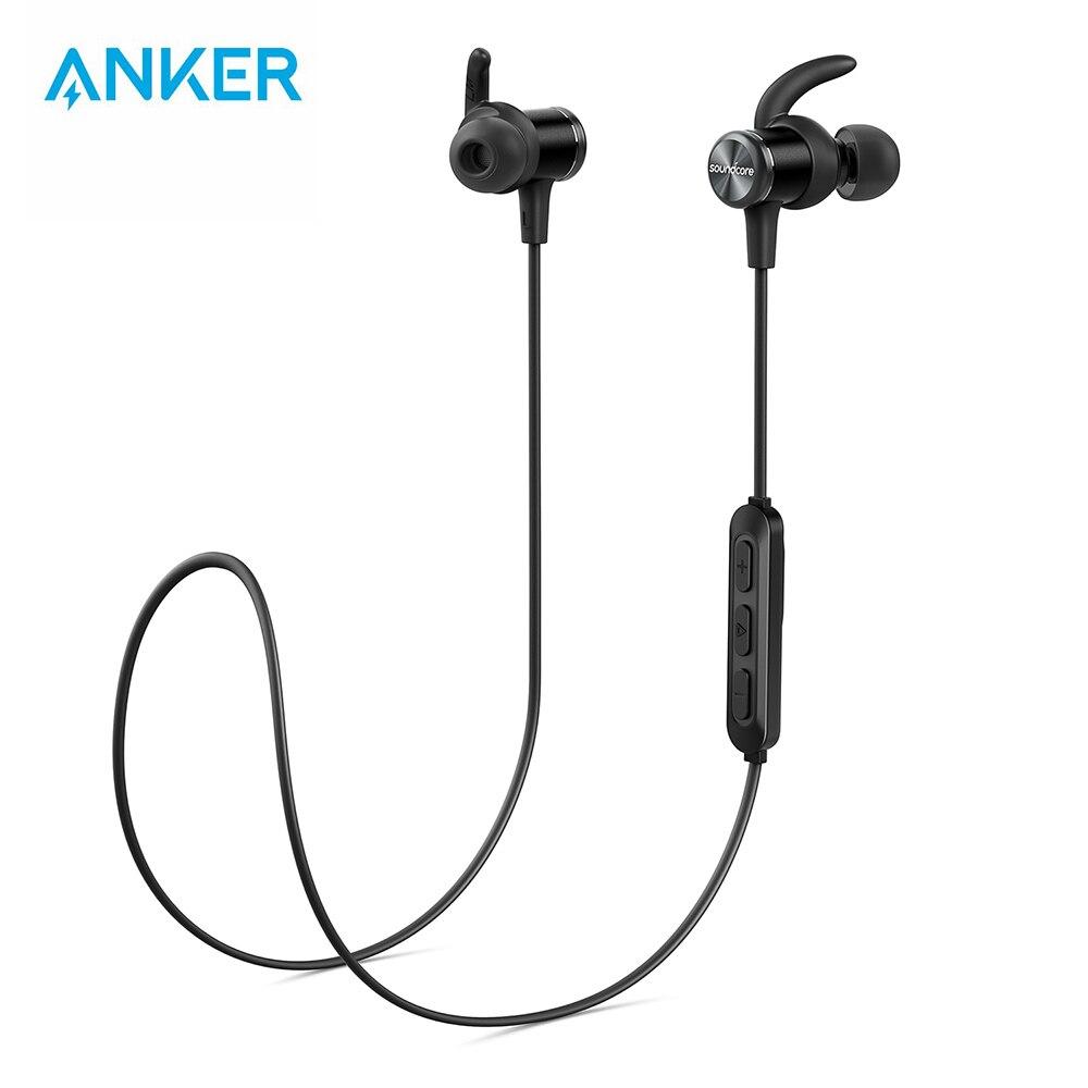 Anker Bluetooth écouteurs Soundcore Spirit Sports avec sans fil Bluetooth 5.0 8 h batterie IPX7 SweatGuard Tech et micro
