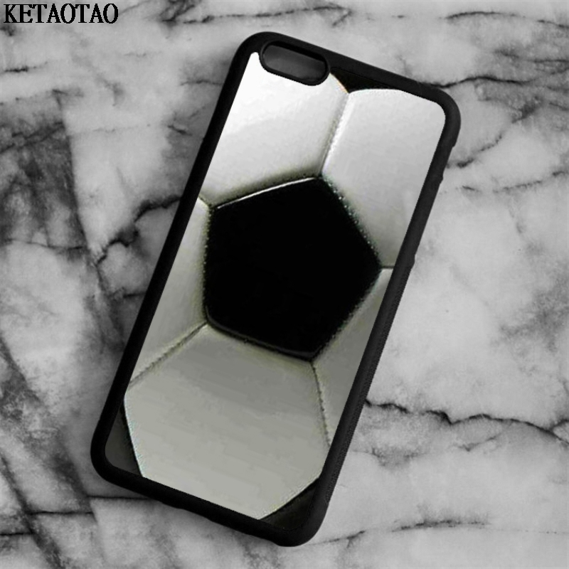 KETAOTAO Soccer football style Phone Cases for iPhone 4S 5C 5S 6 6S 7 8 Plus X for Samsung S3 4 5 Case Soft TPU Rubber Silicone