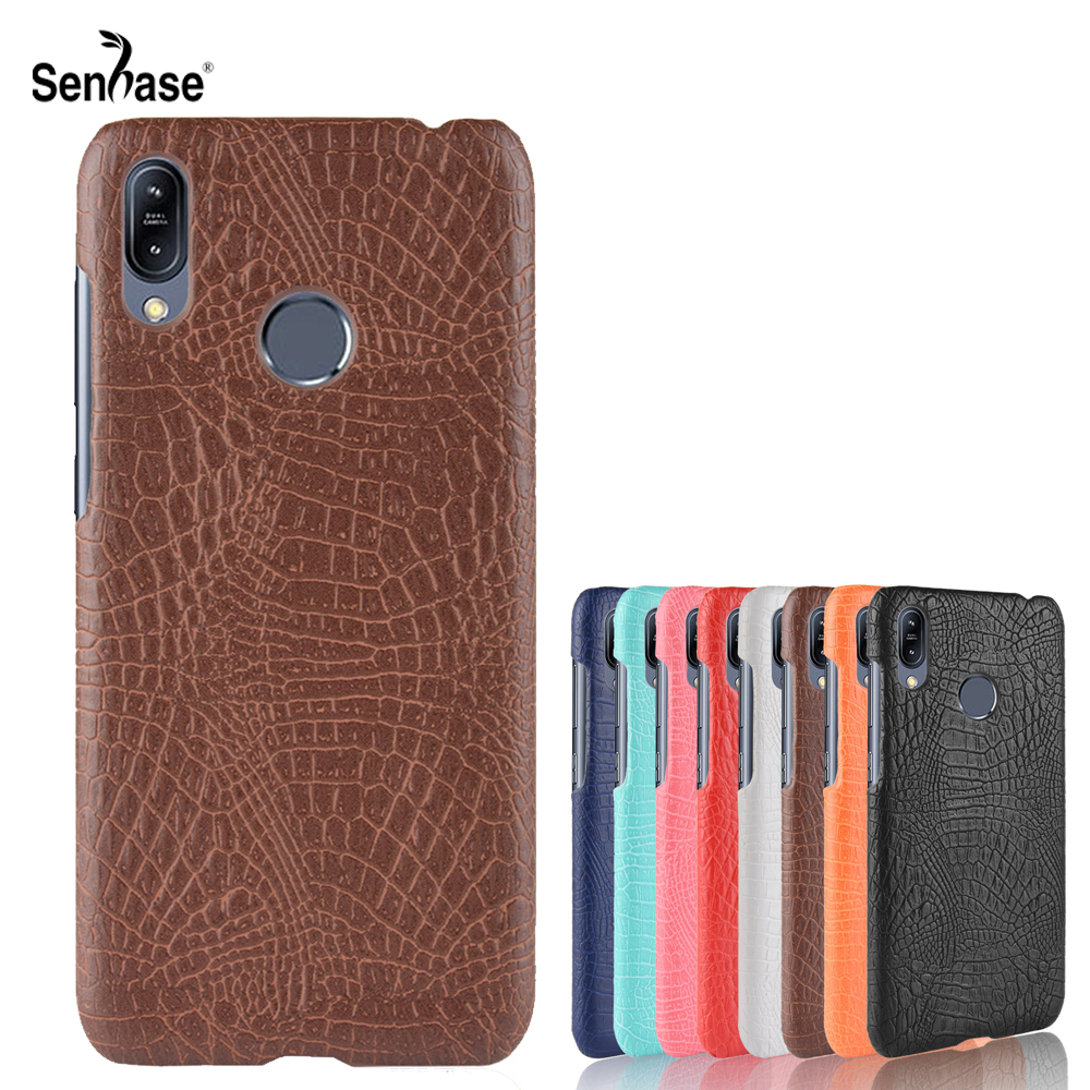 For Asus Zenfone Max M2 ZB633KL Case Crocodile Pattern PU Leather Hard PC Back Cover For Asus Zenfone Max Pro M2 ZB631KL Case