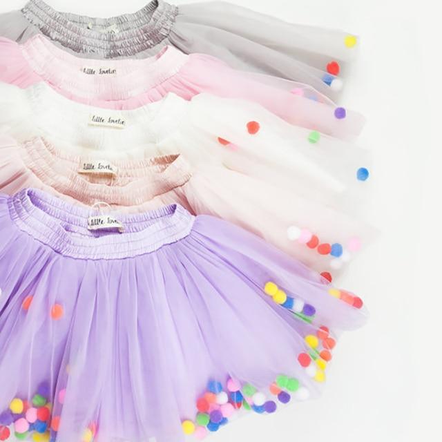 New Summer Fluffy Girls Tutu Skirts Kids Chiffon Child Skirts Pettiskirt Tutu Wild Bottoming Birthday Princess Tulle Skirt Girls