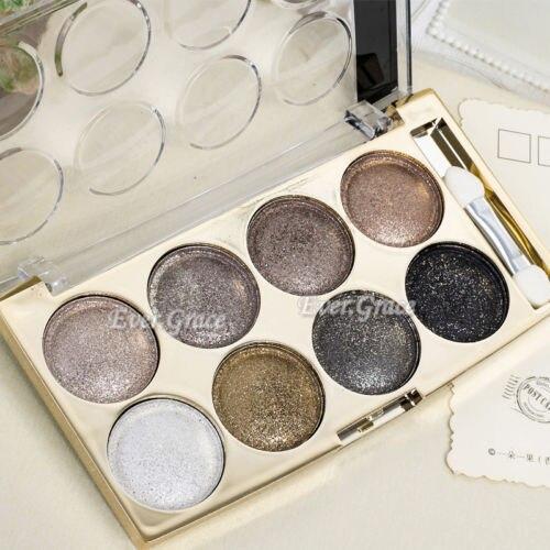 8 Colors Warm Nude Shimmer Higlight Glitter Eyeshadow Palette Makeup Eye Shadow Cosmetic