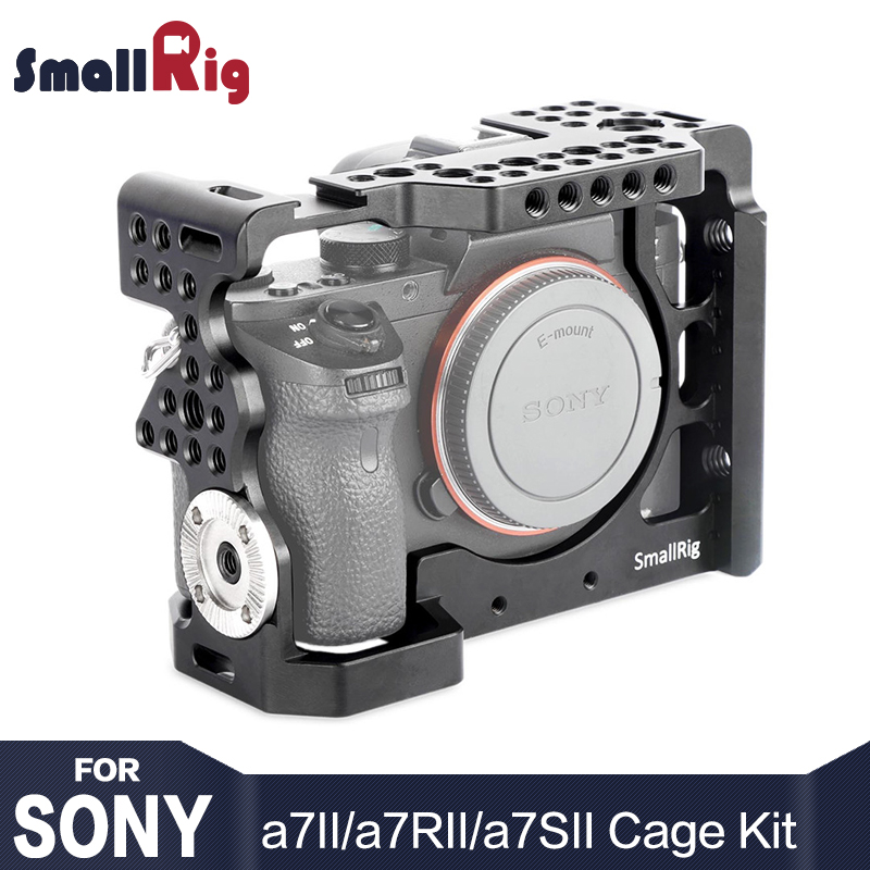 SmallRig A7m2 Camera Cage Rig for Sony a7II / a7RII / a7SII With ARRI rosette Mount and Cold Shoe Mount HDMI Cable Clamp 1982 smallrig mount for samsung t5 ssd card holder mount compatible with smallrig cage for bmpcc 4k 2203 2245