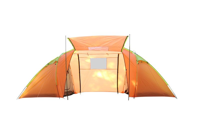double layer tent waterproof aluminum rod tent family tent two bedroom