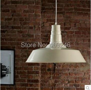 ФОТО 26CM Black/White Antique Industrial Metal Hanging 1-light Lodge Kitchen Bar Pendant Light