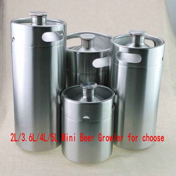 Homebrew Stainless Steel beer keg Portable Beer Growler 2L 3 6L 4L 5L Mini Keg