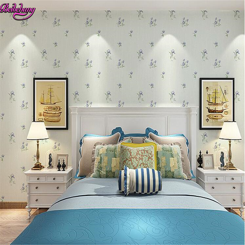 beibehang papel de parede Pastoral Small Floral 3d Wallpaper Bedroom Warm Living Room TV Background Sofa Wall paper papier peint beibehang papel de parede girls bedroom modern wallpaper stripe wall paper background wall wallpaper for living room bedroom wa