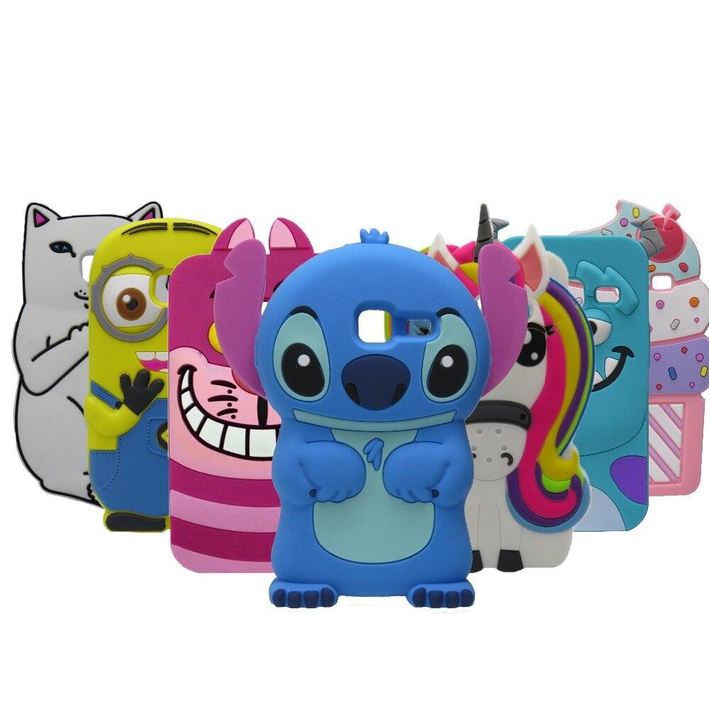 3D Silicon Stitch unicorn Cupcake Cartoon Soft Phone Cover Case for Samsung Galaxy J1 Mini J105 SM-J105H J1 Nxt Duos 2016