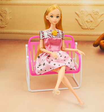 New Plastic Chairs Cute Seaside Chair Deck Chair For Barbie Dolls Funiture Equipment