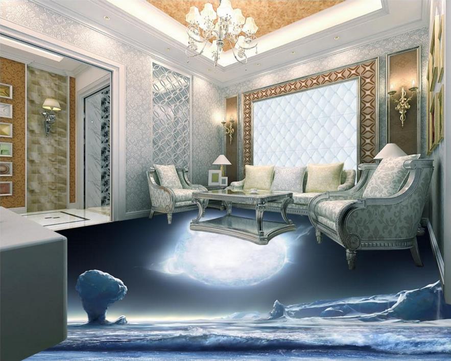 ФОТО Custom 3d flooring murals for kitchen 3d flooring ice self-adhesive waterproof wear PVC 3d photo wallpaper