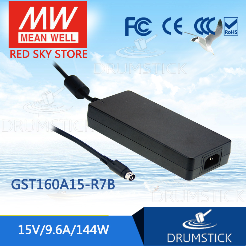 цена на Advantages MEAN WELL GST160A15-R7B 15V 9.6A meanwell GST160A 15V 144W AC-DC High Reliability Industrial Adaptor