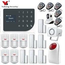 LCD Keyboard RU SP EG FR IT Voice Wireless SMS Home GSM Alarm system House intelligent