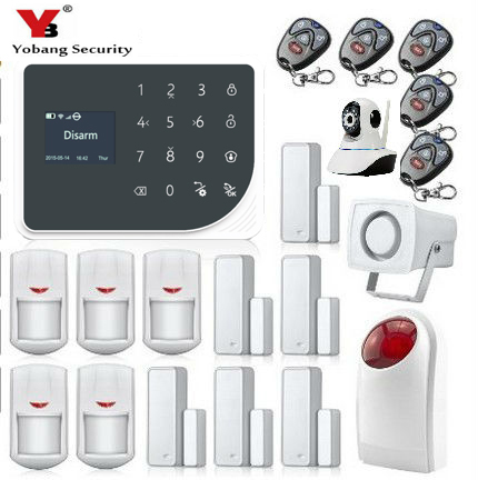 YoBang Security Wireless WIFI GSM GPRS Home Intrude Security Alert System English Hispanic Russian Voice APP