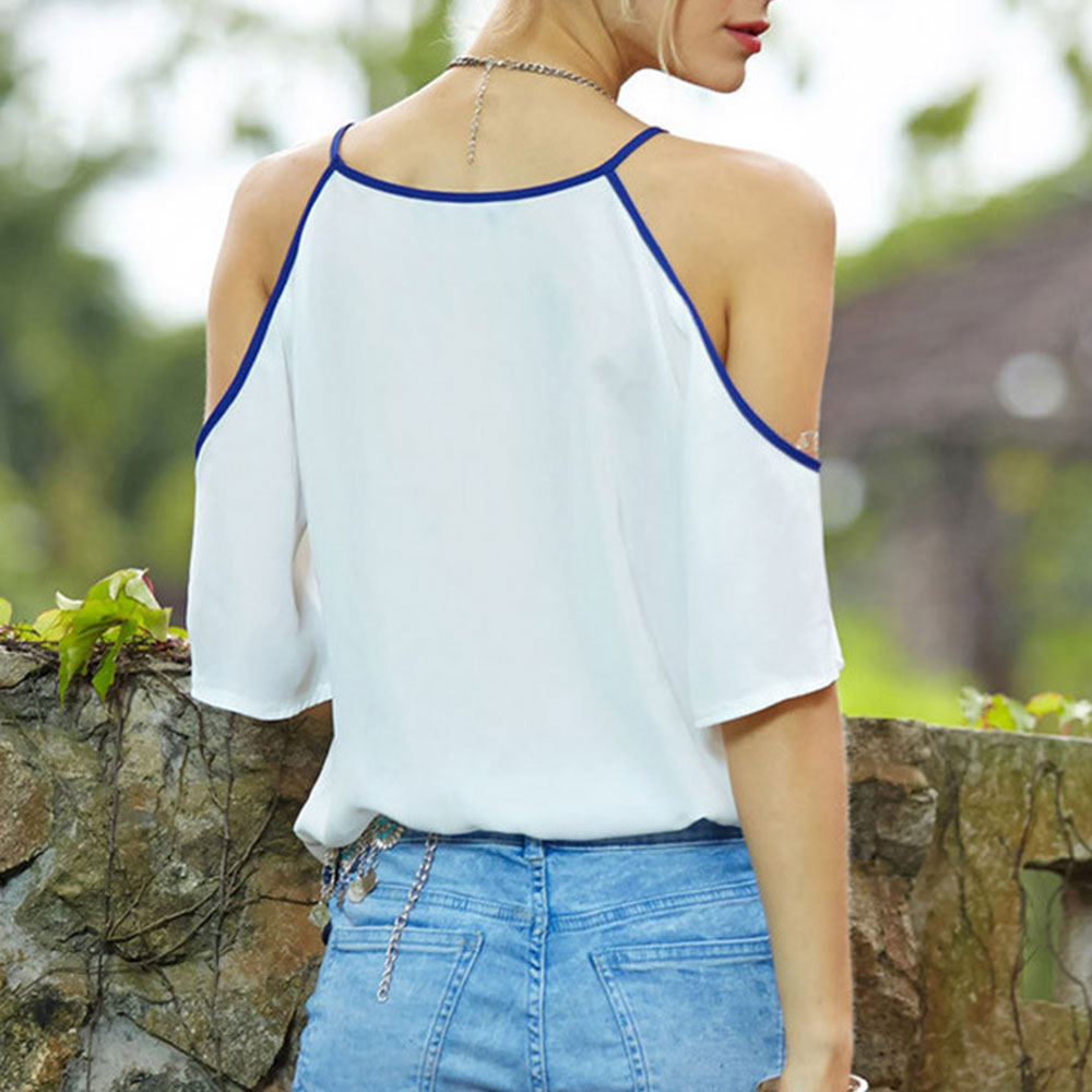 HTB1tHhXQVXXXXbkXXXXq6xXFXXXf - Chiffon Blouse Femme Off Shoulders Women Turtleneck Shirt