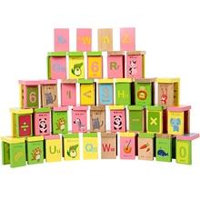 100 шт./лот, деревянные кубики домино, фигурки, английские фигурки домино, Конструкторы для раннего образования, головоломки, когнитивные игрушки