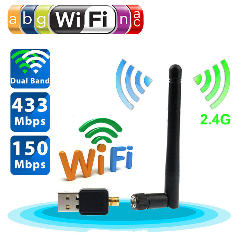 150mbps Mini Wifi Usb Adapter Wireless Wifi Adapter Wi-fi Antenna Long Range Amplifier Laptop Desktop Outdoor Pci-e Network Card