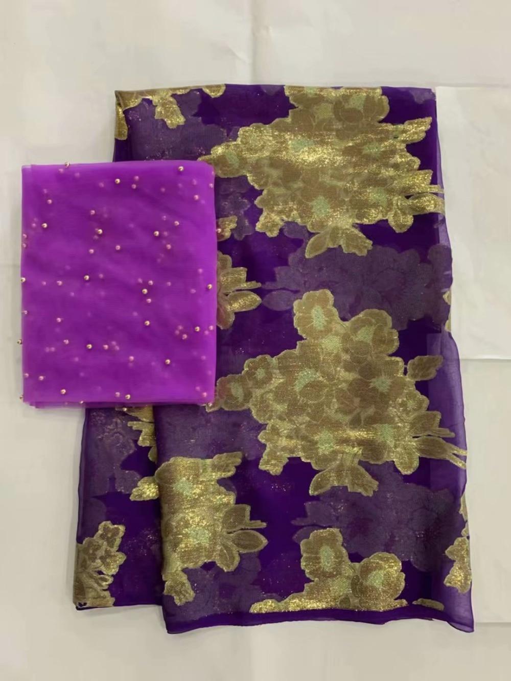 Złota nigeryjczyk koronki tkaniny wysokiej jakości tkaniny jedwabne 2019 satynowa sukienka materiał francuski koronki tkaniny tissu dentelle7yard/dużo L100  w Dekorowanie tkanin od Dom i ogród na  Grupa 1