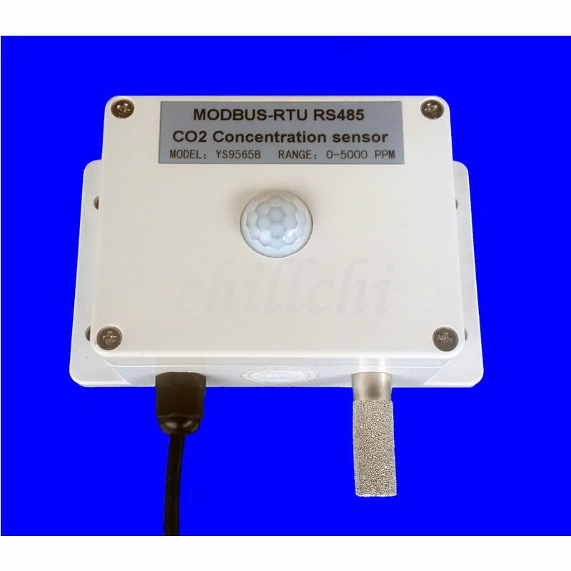 RS485 infrared carbon dioxide CO2 illuminance temperature humidity sensor controller four in one