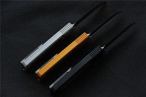Image 5 - גבוהה באיכות וספה D2 להב המרטש סכין, ידית: 7075 אלומיניום + CF, הישרדות חיצוני EDC ציד טקטי כלי ארוחת ערב מטבח סכין
