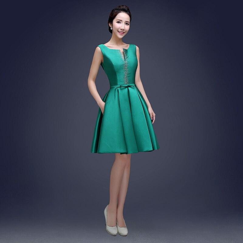Scoop neck vestido de bola cocktail dress con cuentas 2017 de la ...