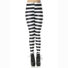 KDK1149 Sexy Girl Black white piano zebra stripes Printed Elastic Slim Fitness Women Jogging Sport Yoga Leggings Pants Trouser
