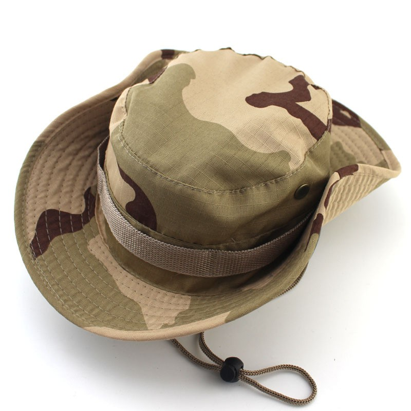 Outdoor Bucket Hats Mens Jungle Military Camouflage Bob Camo Bonnie Hat Camping Barbecue Cotton Mountain Climbing Fishing Caps (3)