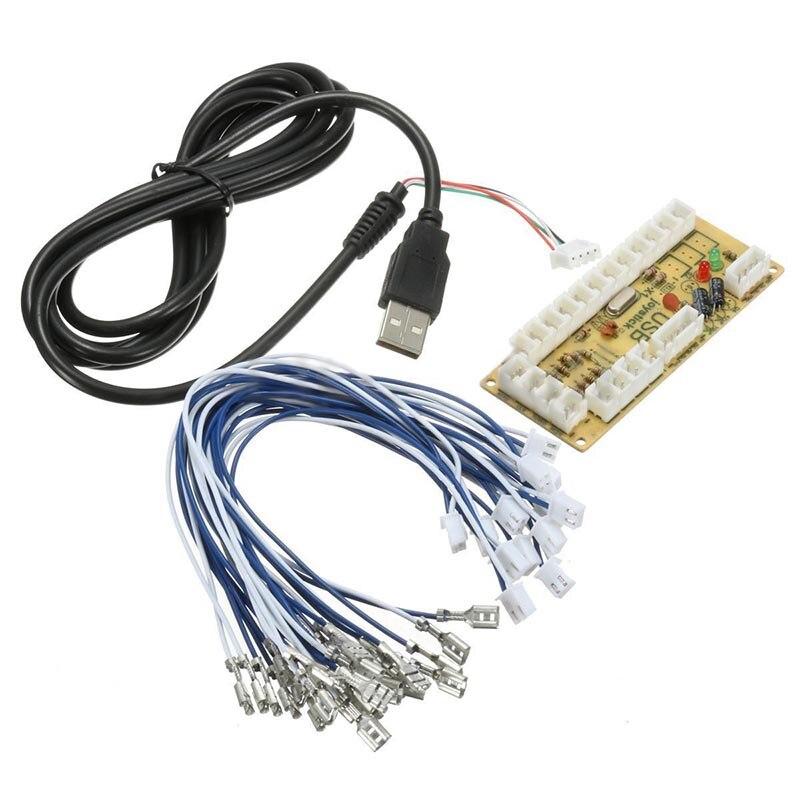 DIY Zéro Retard Arcade USB Encoder PC Joystick Jeux de Combat Pièces De Rechange Codeur Conseil + Fil Câbles