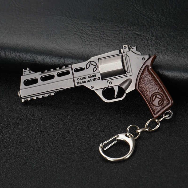 Nieuwe speler onbekende battlefield 3D sleutelhanger pistool auto revolver kip eten spel mannelijke en vrouwelijke auto sleutelhanger populaire spel