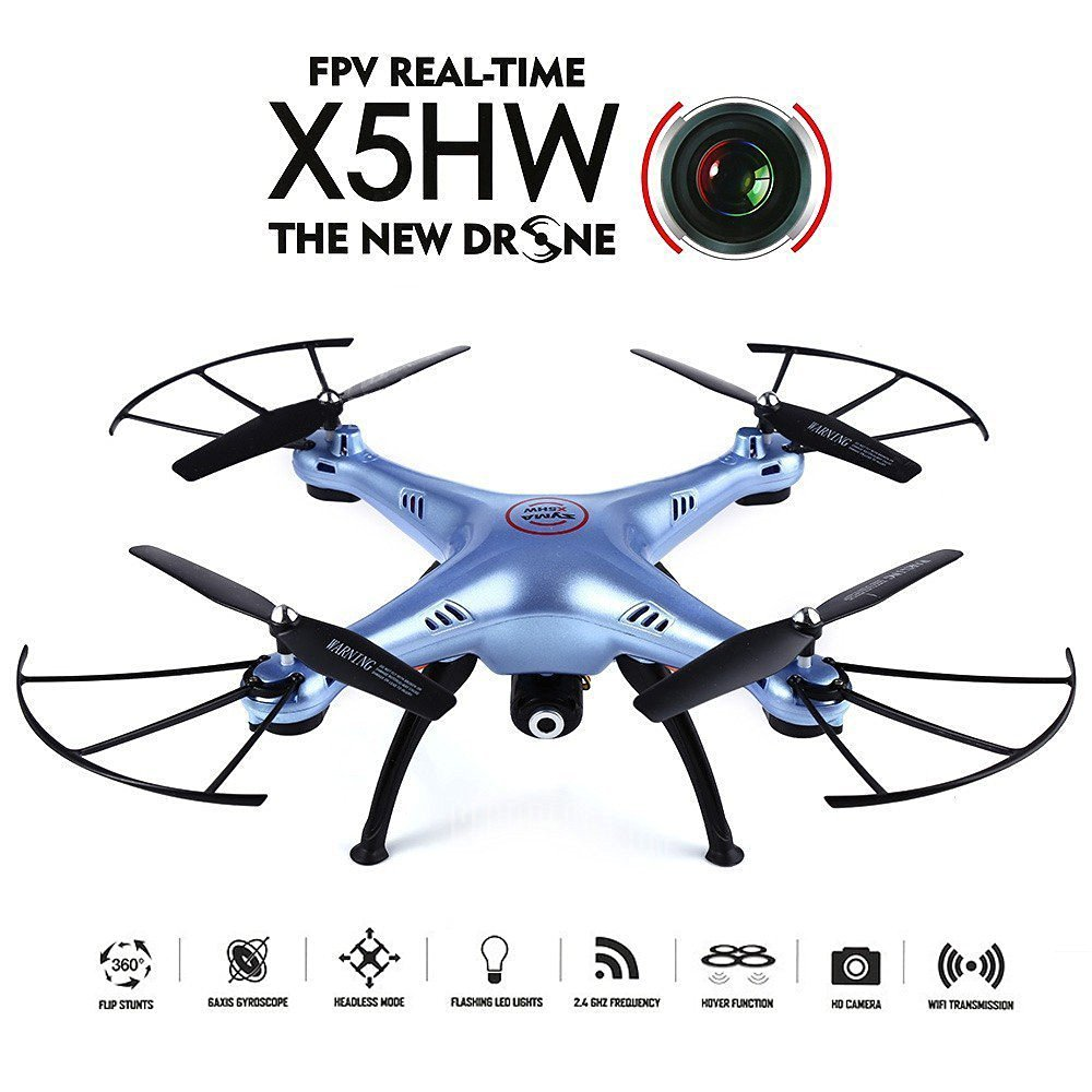 Syma X5HW X5HW-1 Wifi FPV Drone with HD Camera Live Video Altitude Hold Function RC Quadcopter syma x5hw fpv rc quadcopter drone with