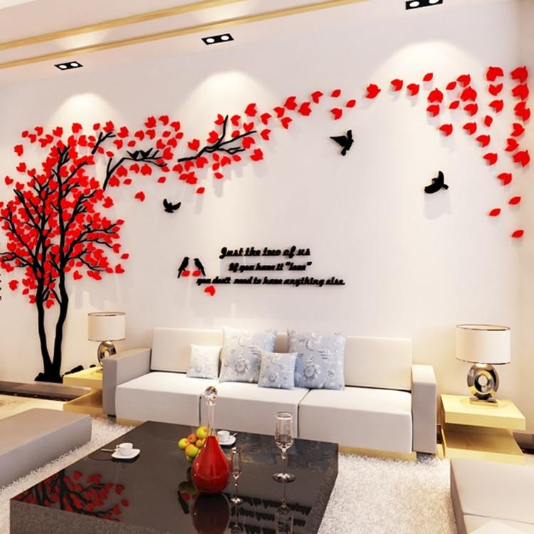 Didelio dydžio medis akrilo dekoratyvinis 3D sienos lipdukas DIY - Namų dekoras - Nuotrauka 6